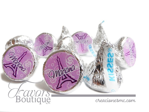 Chocolates Kisses personalizados