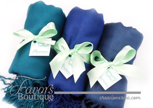 creaciones mc recuerdos xv años pashminas azules - Recuerdos XV Años