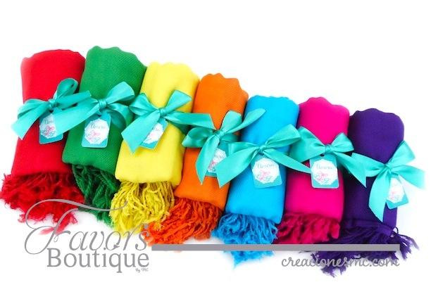 creaciones mc recuerdos xv años pashminas colores vibrantes - Recuerdos XV Años