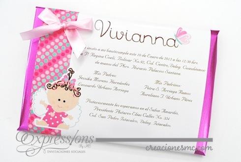 Expressions invitaciones bautizo mod. chocolate jumbo - Invitaciones Bautizo y Comunión
