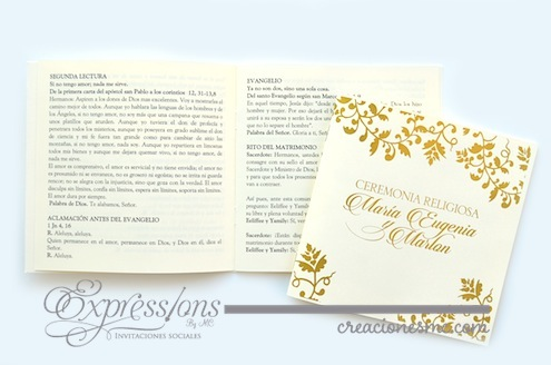 complementos de tarjetería expressions invitaciones misal boda cuadrado - Complementos de tarjetería