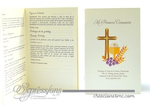 complementos de tarjetería expressions invitaciones misal de primera comunión - Complementos de tarjetería