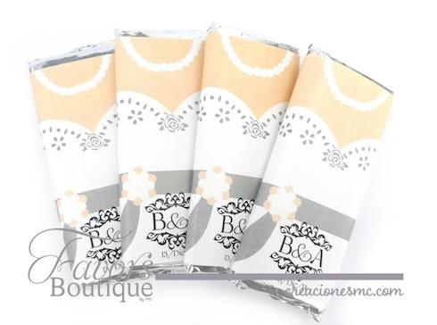 creaciones mc recuerdos boda barras de chocolate grande Novia  - Recuerdos Boda