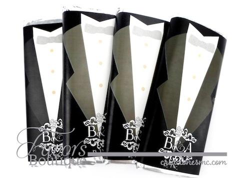 creaciones mc recuerdos boda barras de chocolate grande Novio  - Recuerdos Boda