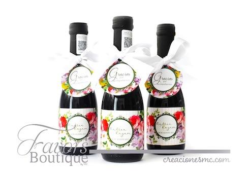 creaciones mc recuerdos boda botellas de vino personalizadas - Recuerdos Boda