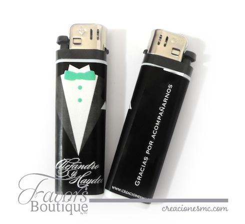 Encendedores personalizados para boda