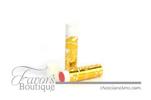 creaciones mc recuerdos boda lip balm etiqueta metalizada - Recuerdos Boda