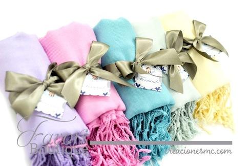 creaciones mc recuerdos boda pashminas colores pastel - Recuerdos Boda
