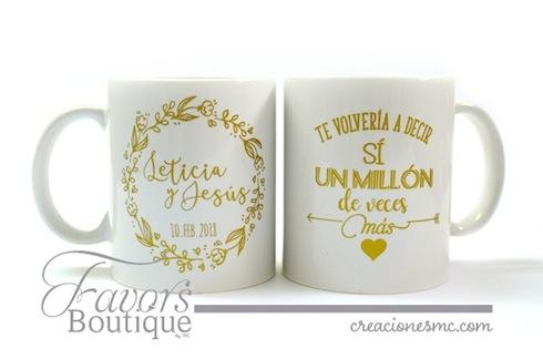 creaciones mc recuerdos boda tazas impresas para boda - Recuerdos Boda