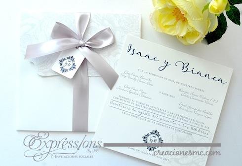 expressions invitaciones boda mod Bianca - Invitaciones Boda