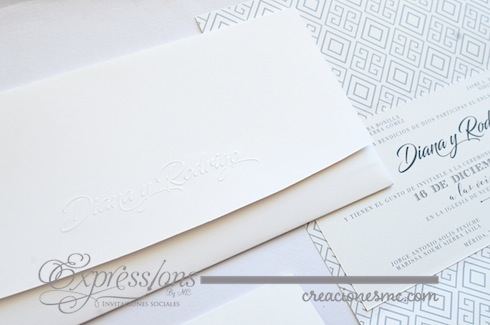 expressions invitaciones boda modelo geometric  - Invitaciones Boda