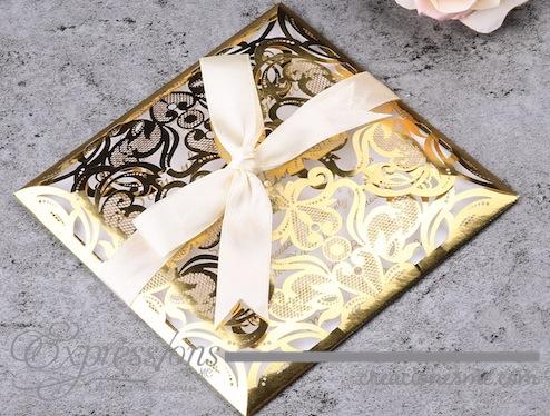 invitaciones expressions invitaciones de corte láser Mod. Luxury papel foil - Invitaciones de Corte Láser