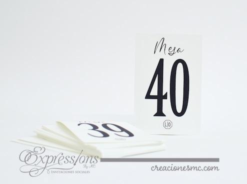 Número de mesa clásico