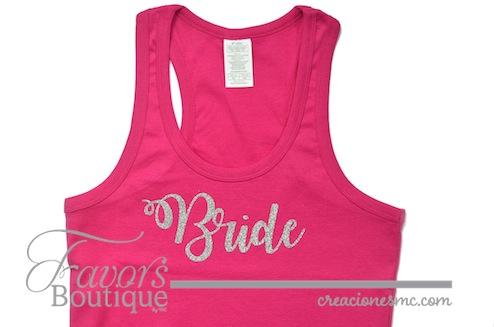 creaciones mc playera bride - Regalos para Bridesmaids