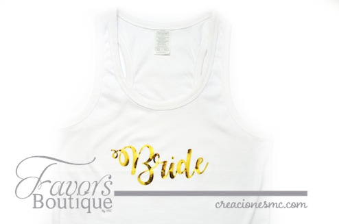 creaciones mc playera brides - Regalos para Bridesmaids