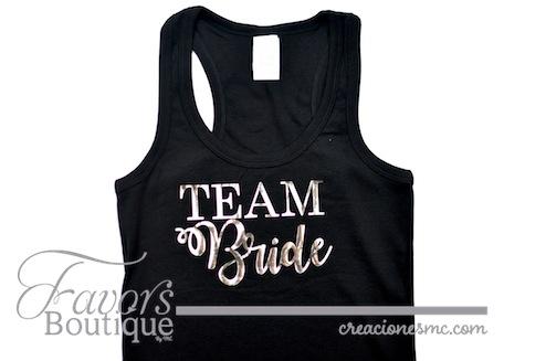 creaciones mc playera team bride - Regalos para Bridesmaids