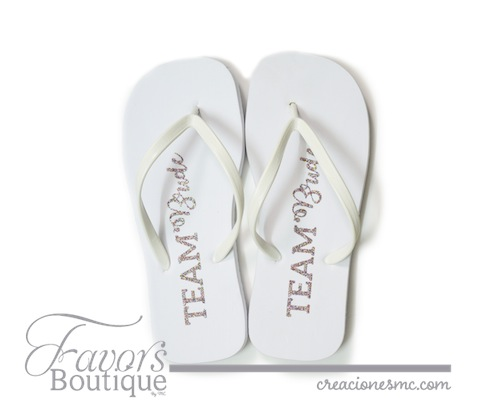 creaciones mc sandalias bride team - Regalos para Bridesmaids