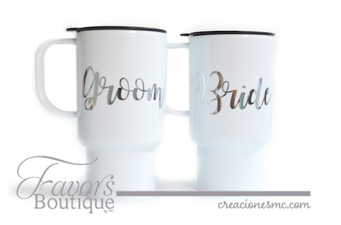 creaciones mc termo bride y groom - Regalos para Bridesmaids