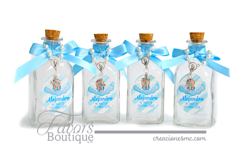 Botella para agua bendita con decenario mini