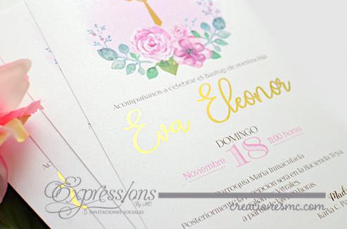 expressions invitaciones bautizo y comunion modelo Eva1 - Invitaciones Bautizo y Comunión