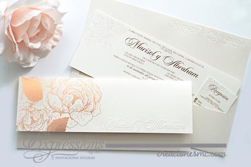 expressions invitaciones boda mod. Marisol - Invitaciones Boda